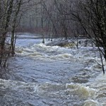Recent rainfall floods many stream and rivers