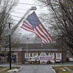 Patriot Flag is flown at the Newington Fire Department