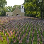 Field of Flags arrives in Southbury, Connecticut