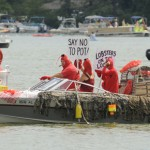 Captain Grizzy's 2011 Showboat Parade on Lake Pococtopaug