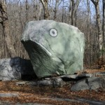 Frog rock creature in Eastford, Connecticut