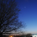Close conjunction between Jupiter and Venus